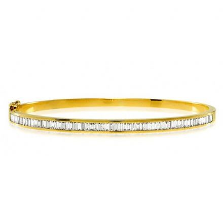 18K White Gold 1.50ct H/si Diamond Bangle, K1013